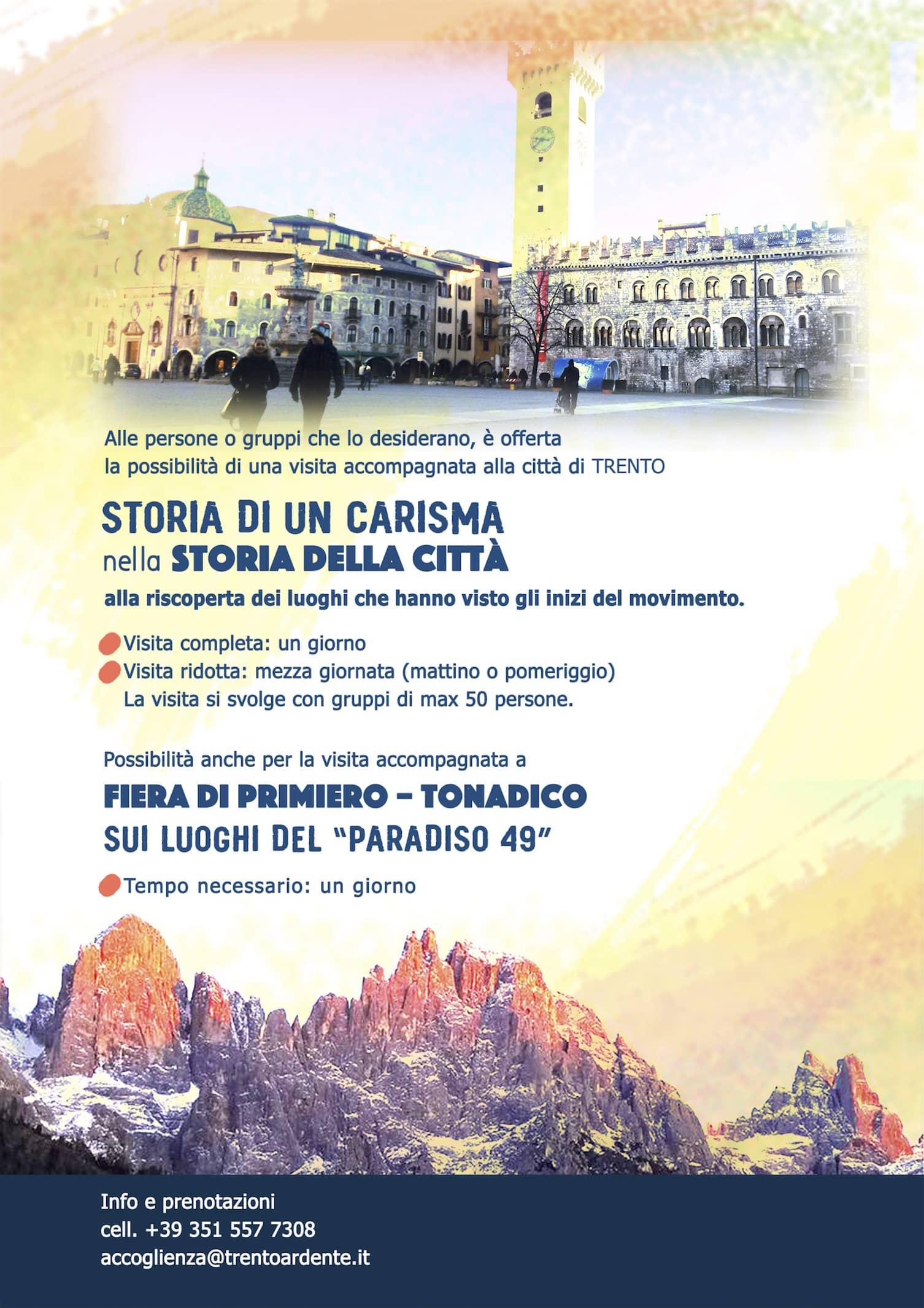 Trento Fiere Calendario.Eventi In Trentino Per Il Centenario Di Chiara Lubich
