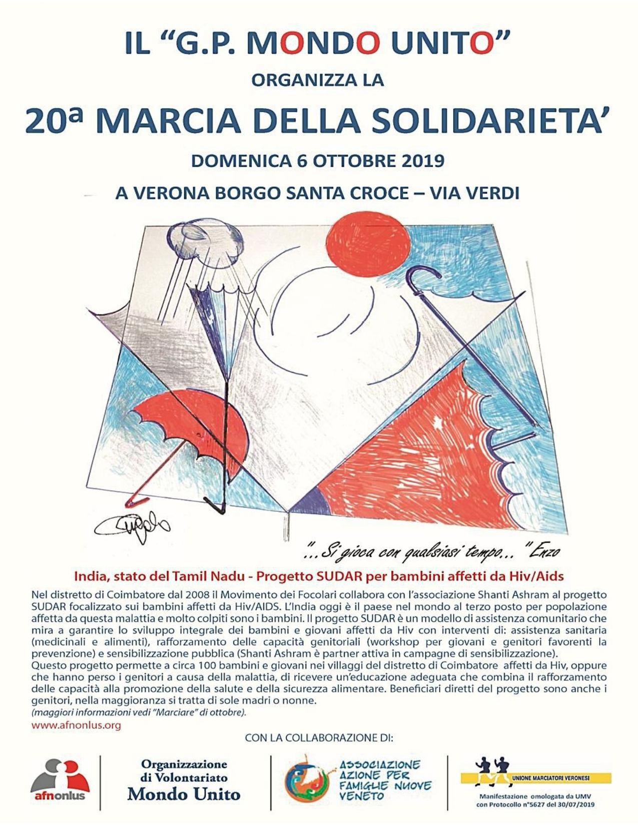 Unione Marciatori Veronesi Calendario.Verona 20a Marcia Di Solidarieta Focolaritalia It